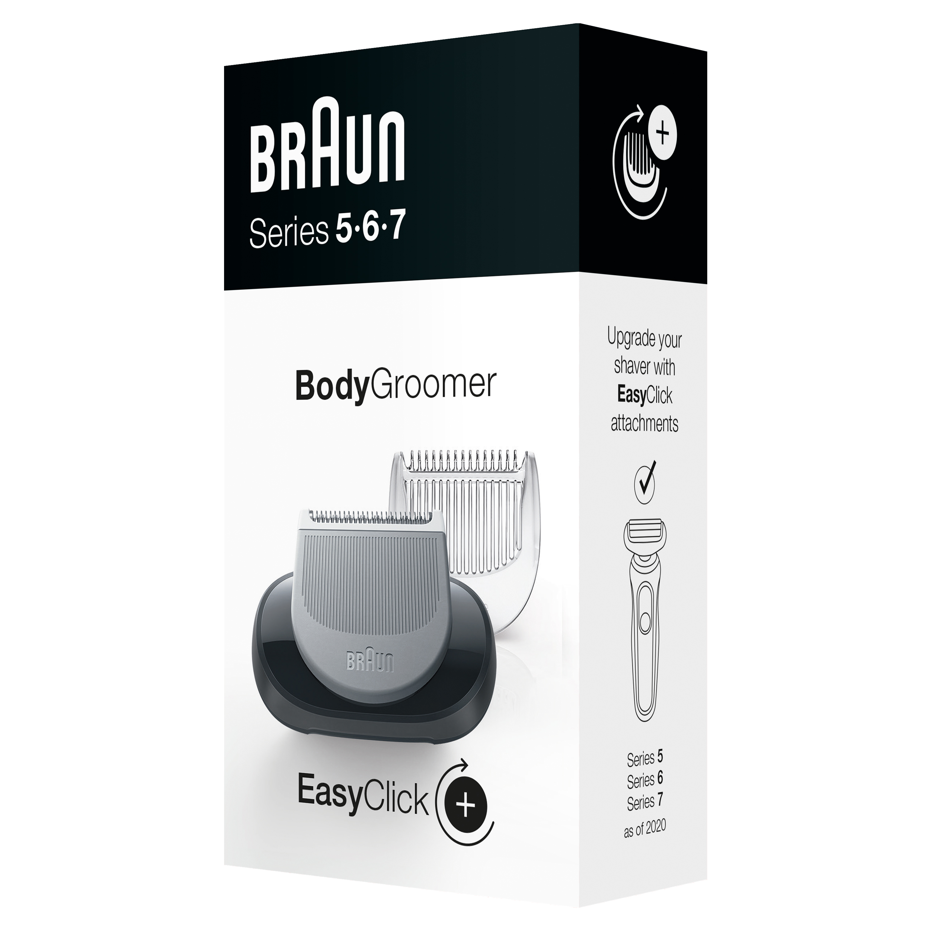 EasyClick Body Groomer attachment for Braun Series 5, 6 and 7 electric shaver