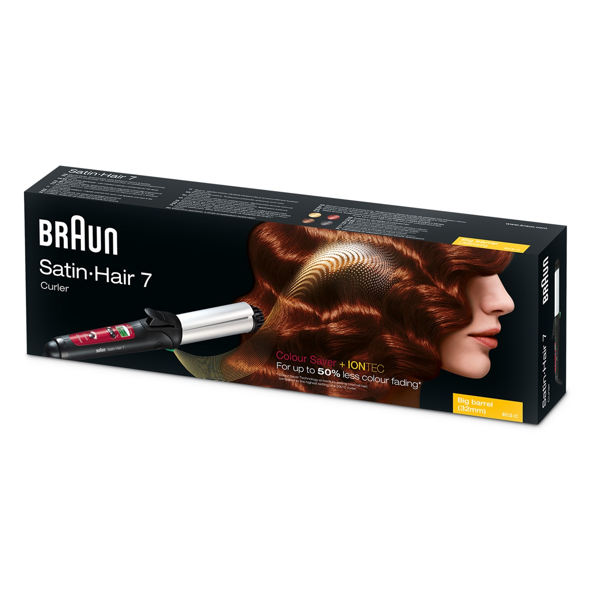 Braun Satin Hair 7 CU750 Curler with Colour Saver technology - packaging