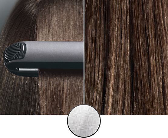 Braun Satin Hair IONTEC straightener with Curl shaper and 100% ceramic eloxal plates
