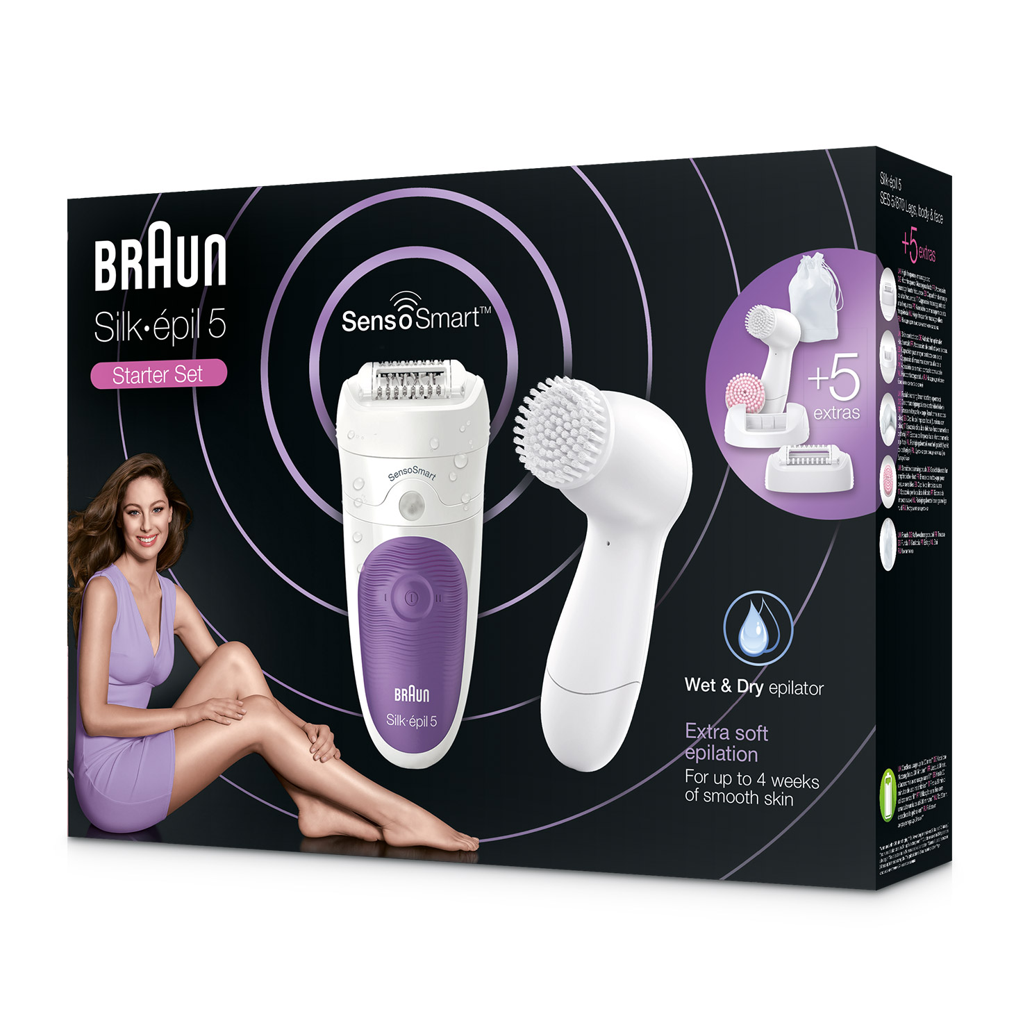 Silk-épil 5 5/870 SensoSmart epilator - packaging