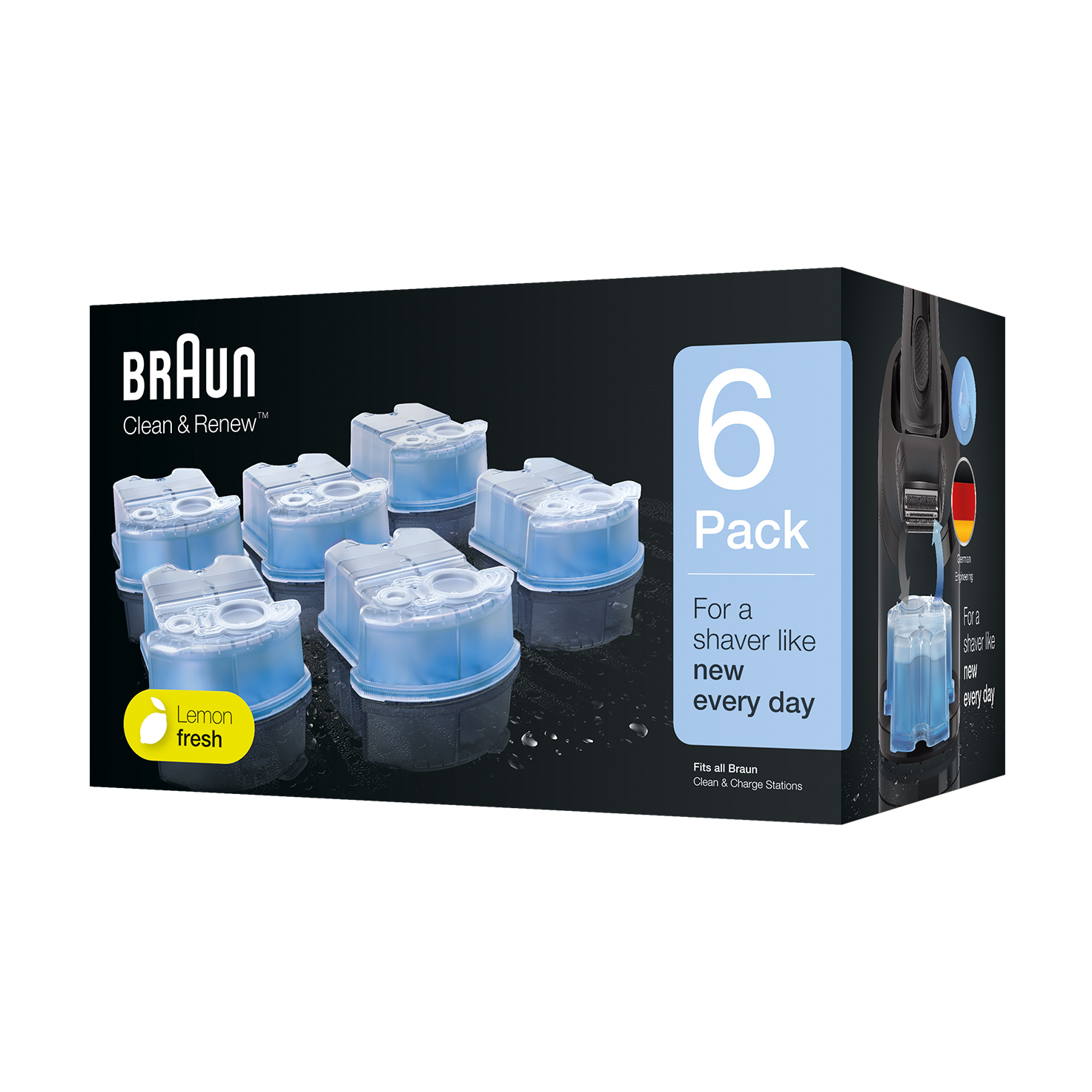 Braun Clean & Renew refill cartridges  CCR - 6 Pack