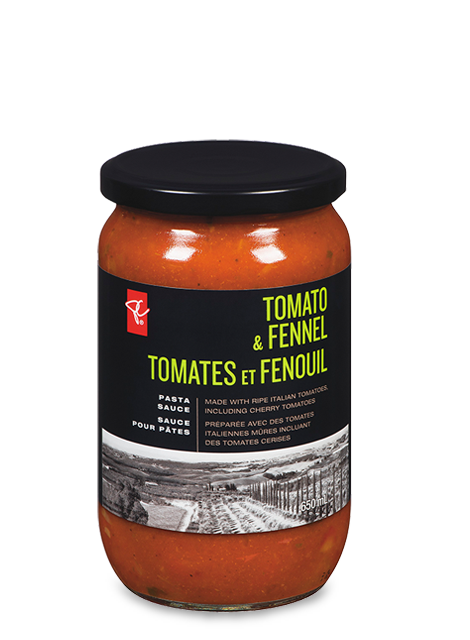 Jar of PC Black Label tomato and fennel pasta sauce