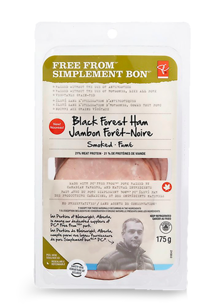 Package of PC free from smoked Black Forest ham