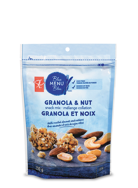 Bag of PC Blue menu granola & nut snack mix