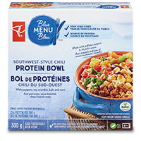 A box of PC Blue Menu Southwest-Style Chili Protein Bowl