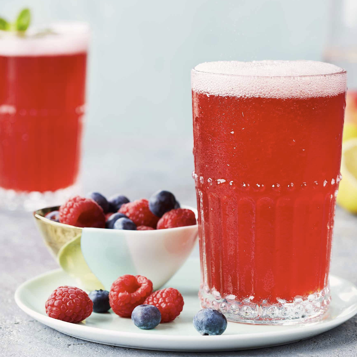 "Berry Kombucha ""Fauxito"" Mocktail"