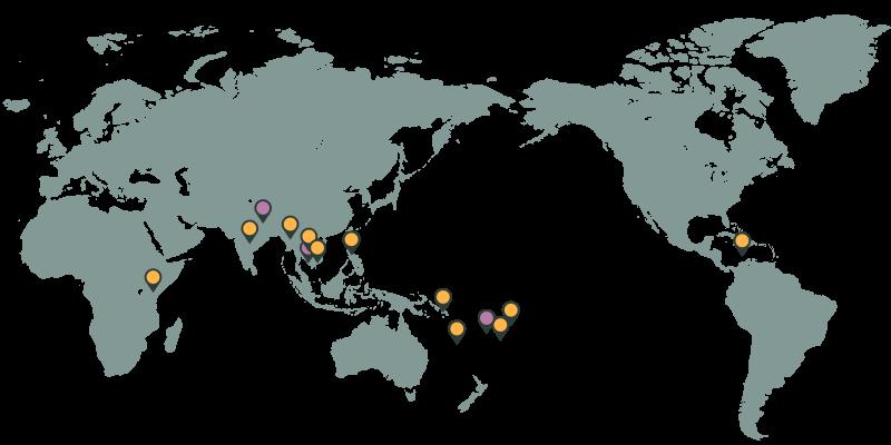 International development unit map