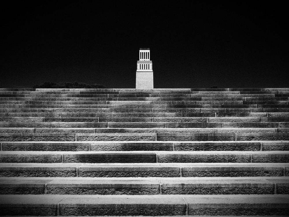 Buchenwald memorial - stairs to the tower