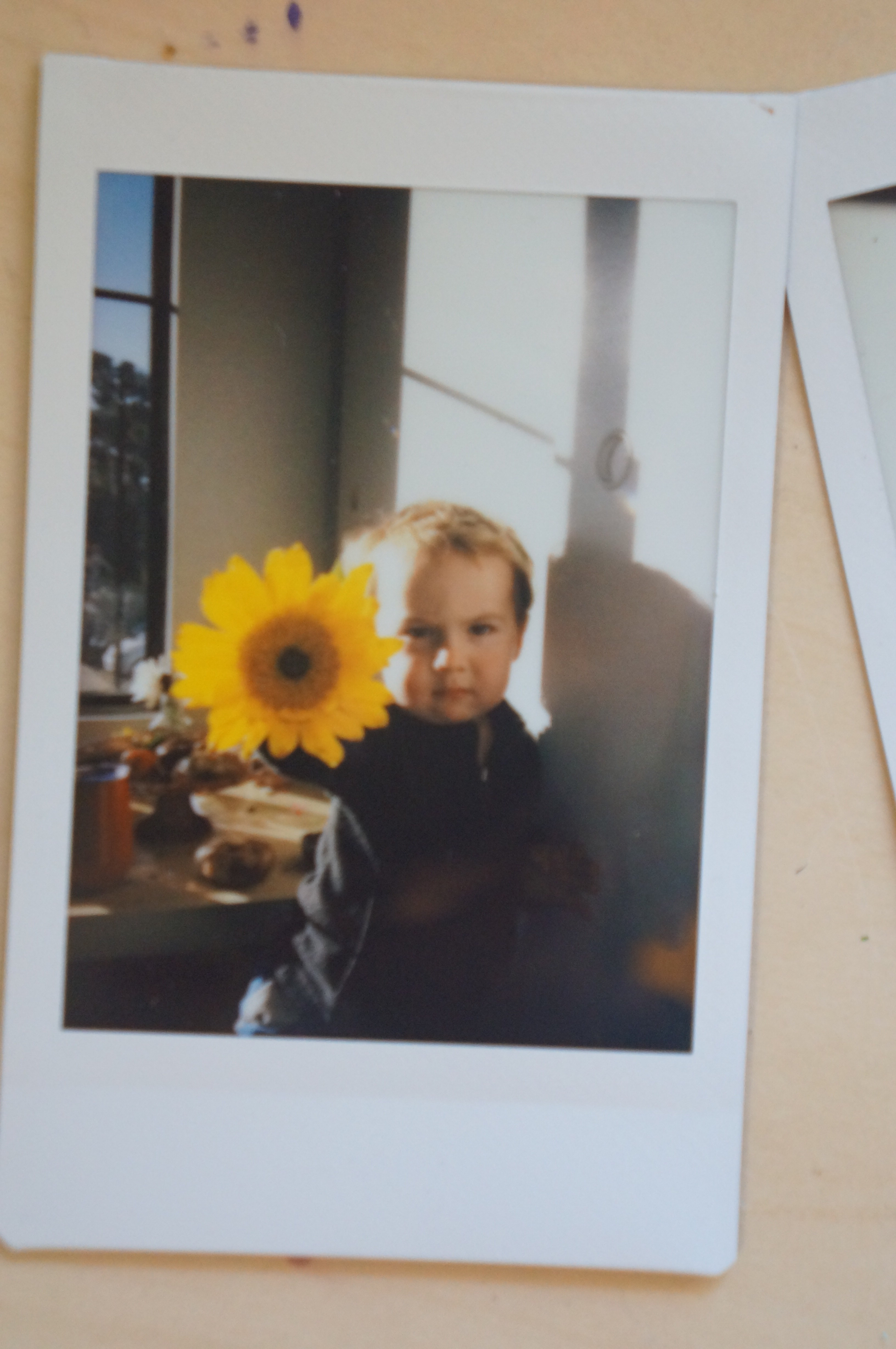 Theo with flower