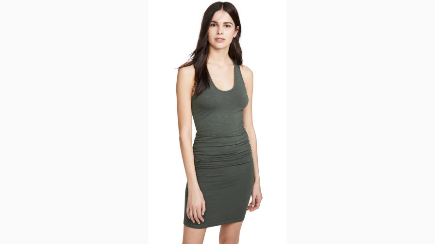 Shopbop Monrow Supersoft Tank Shirred Dress