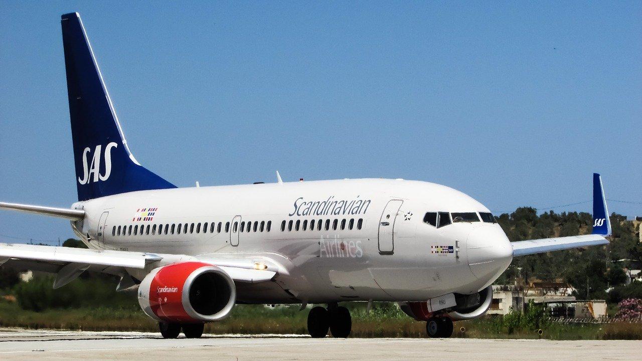 SAS Scandinavian Airlines airplane