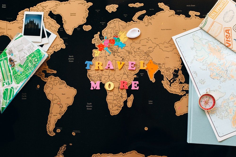 World map on the table