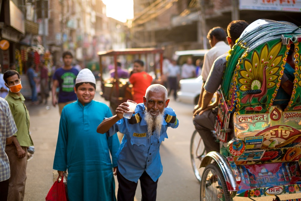 People on the streets in India