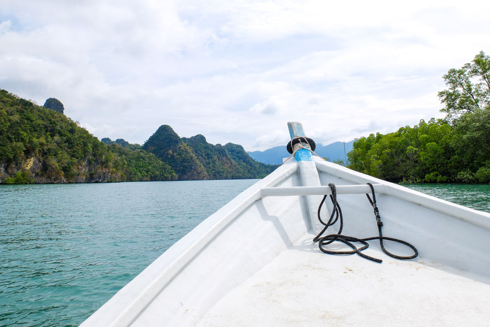 On a boat in Langkawi, Malaysia