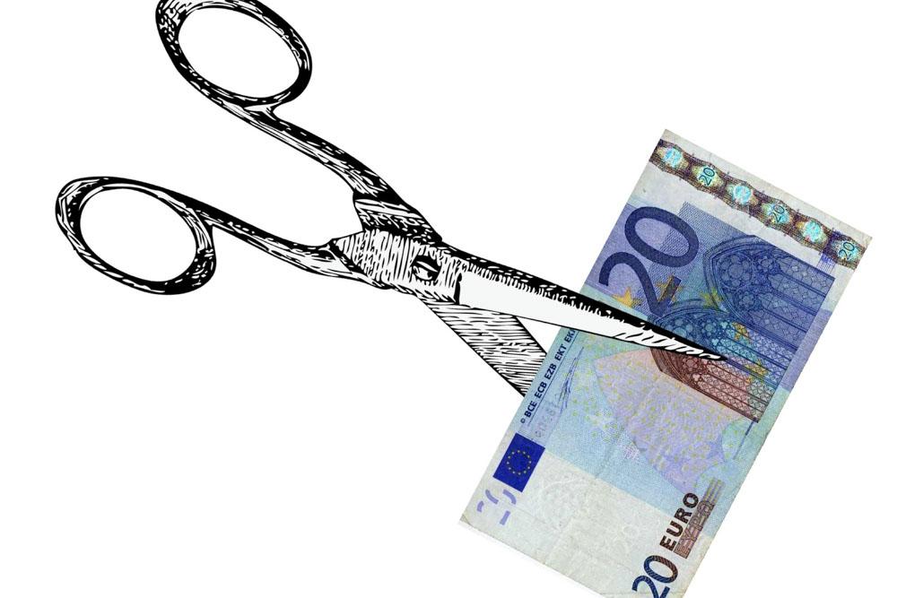Scissors and money