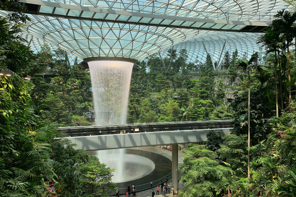 Indor garden in Singapore Changi airport