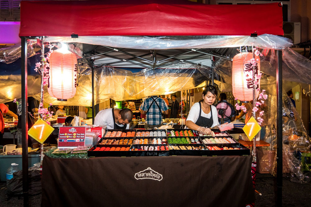 Sushi vendor in Phuket, Thailand