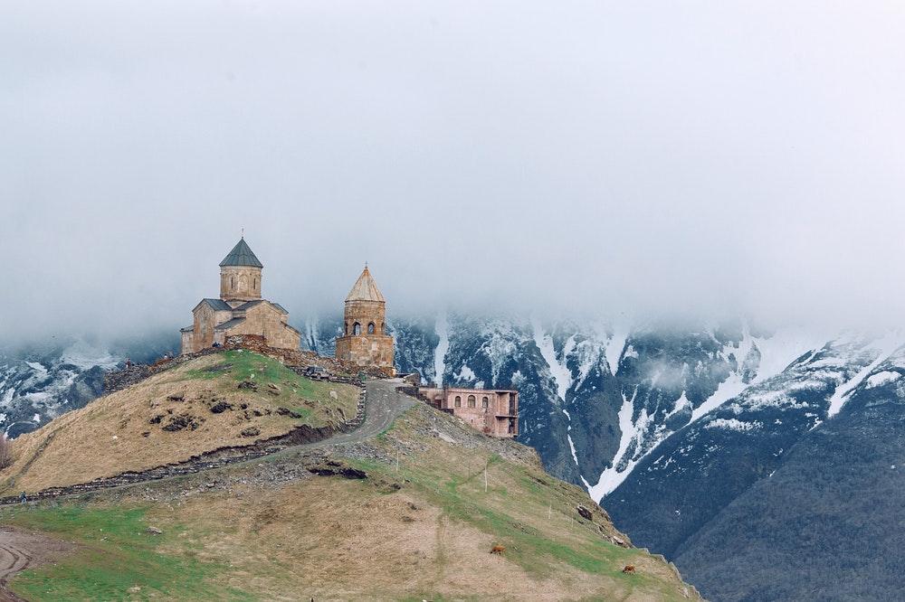 Medieval church on a hill