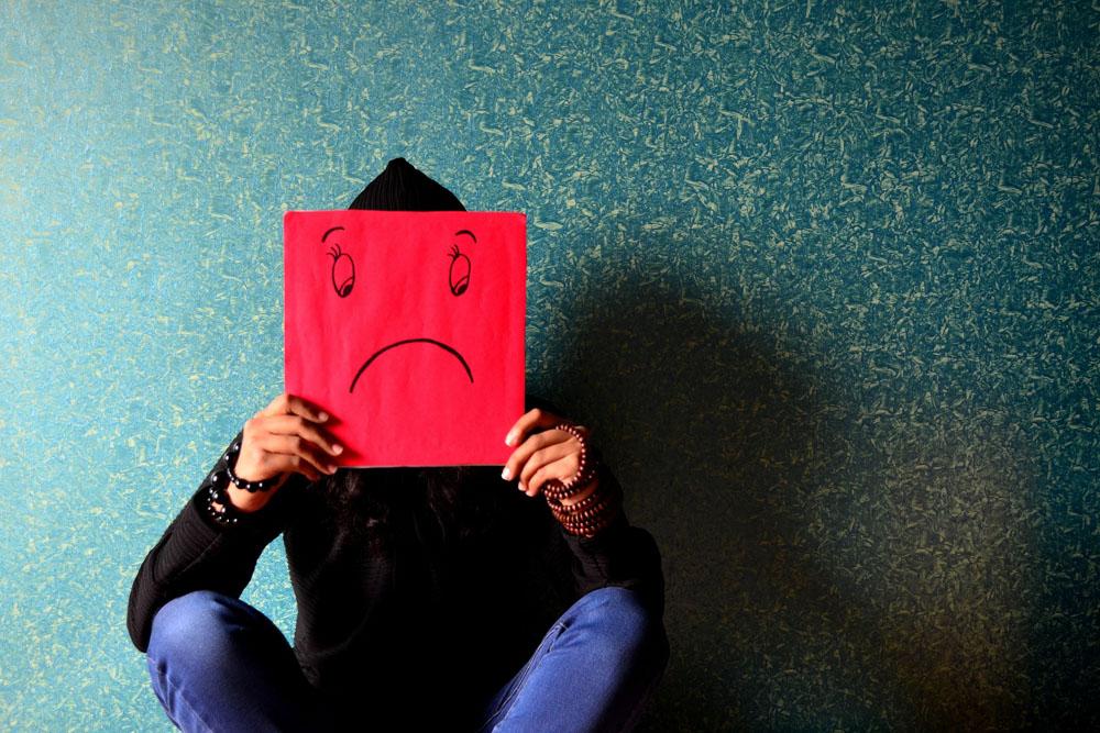 Unhappy drawn face