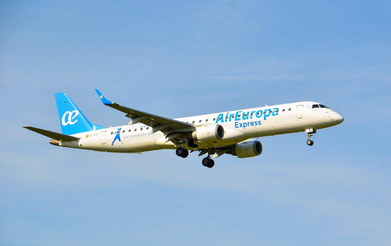 Air Europa Express airplane in the air