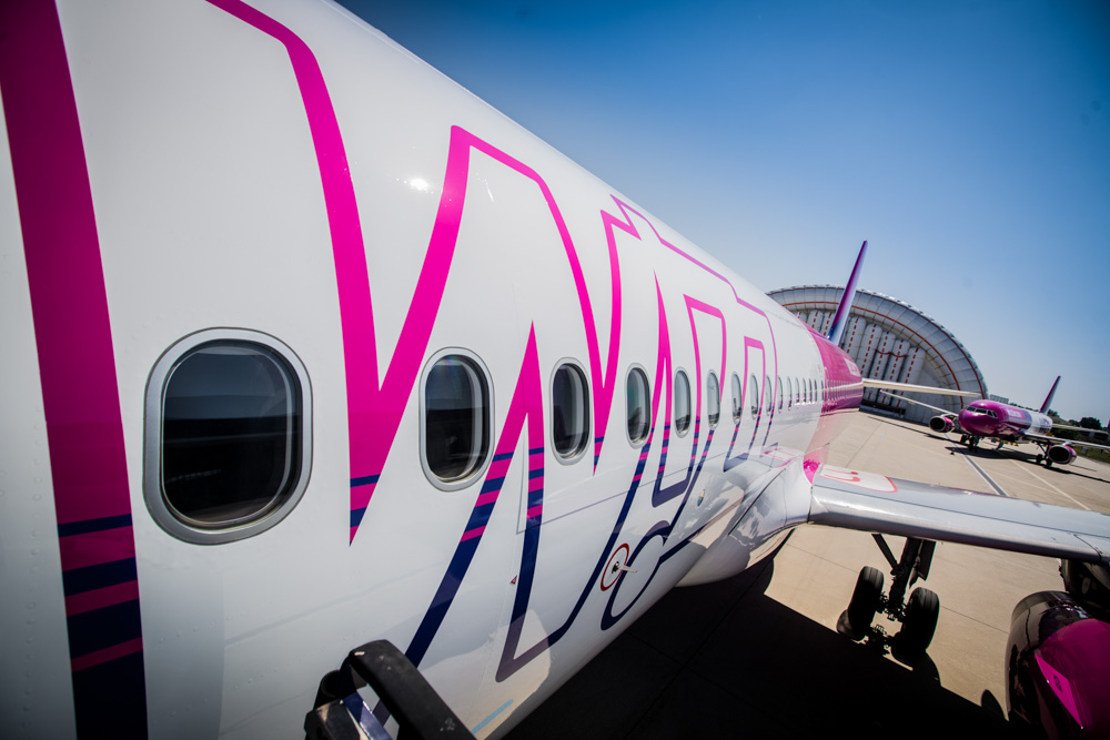 Wizz Air aircraft up close
