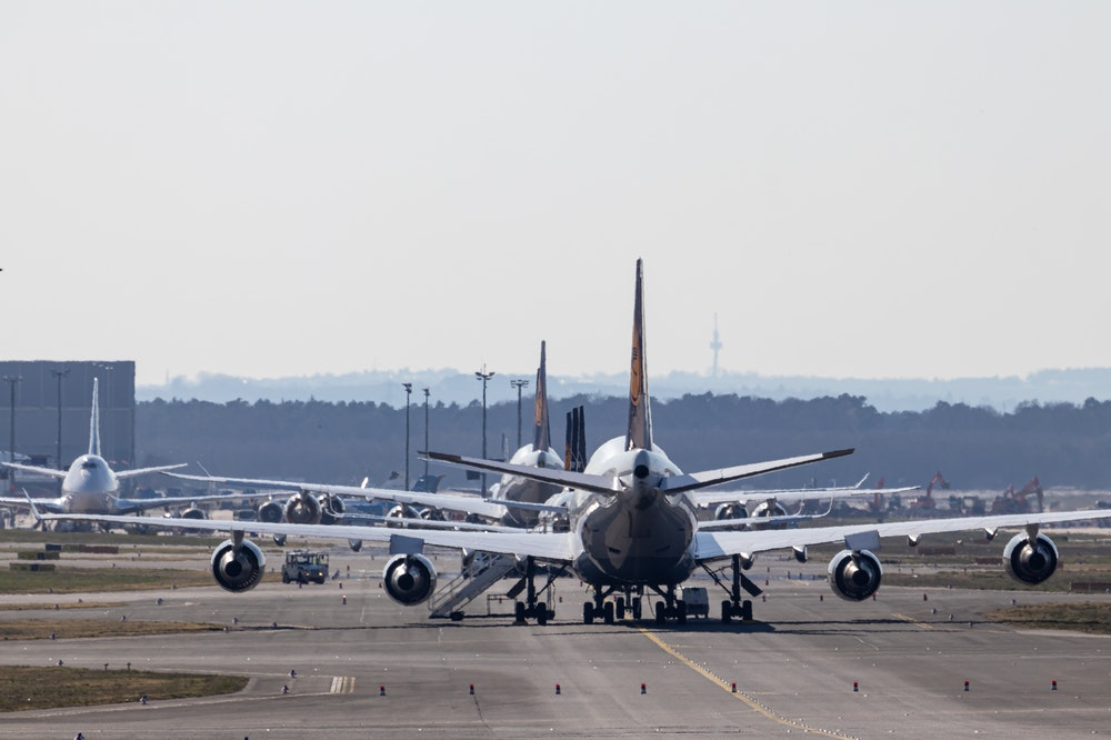 Aircrafts on a runway