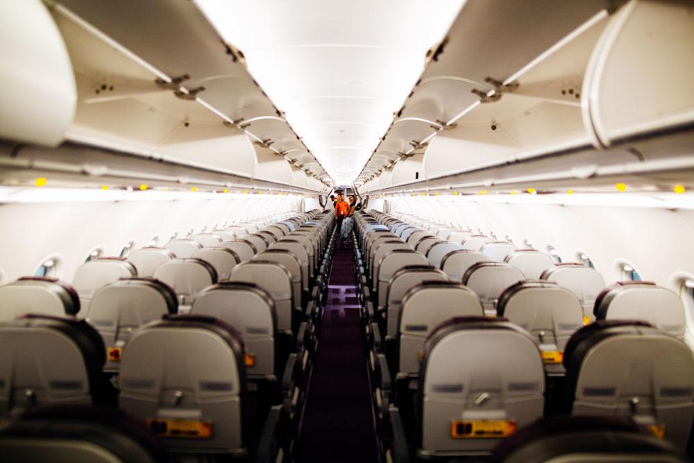 Empty airplane