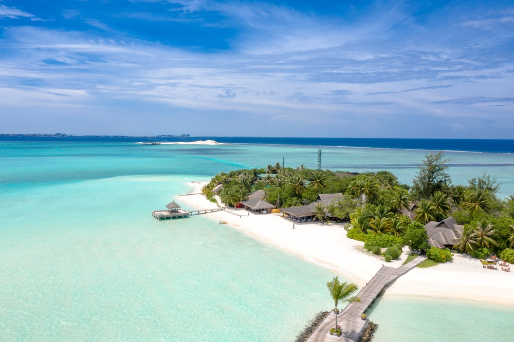 Beach resort in Maldives