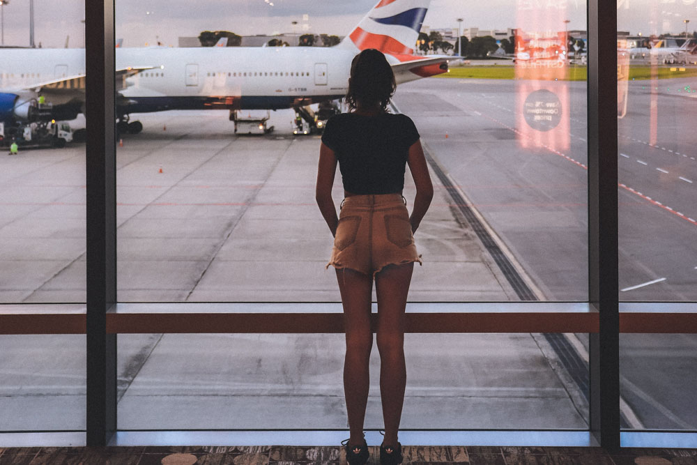 A person at the airport