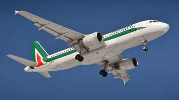 Alitalia airplane in the air