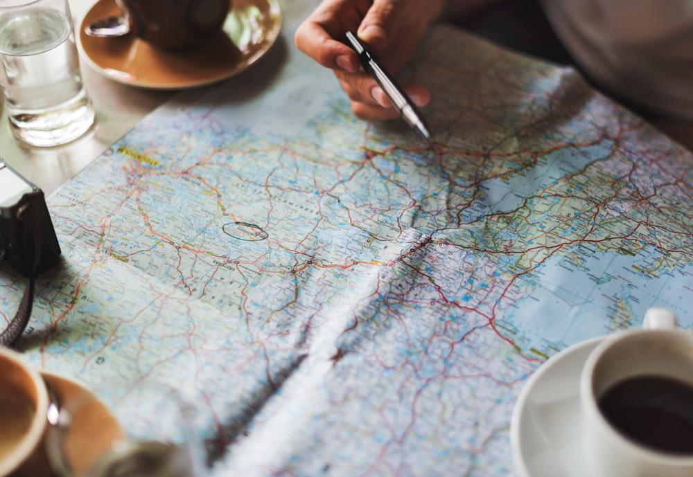 Map - Pre travel checklist