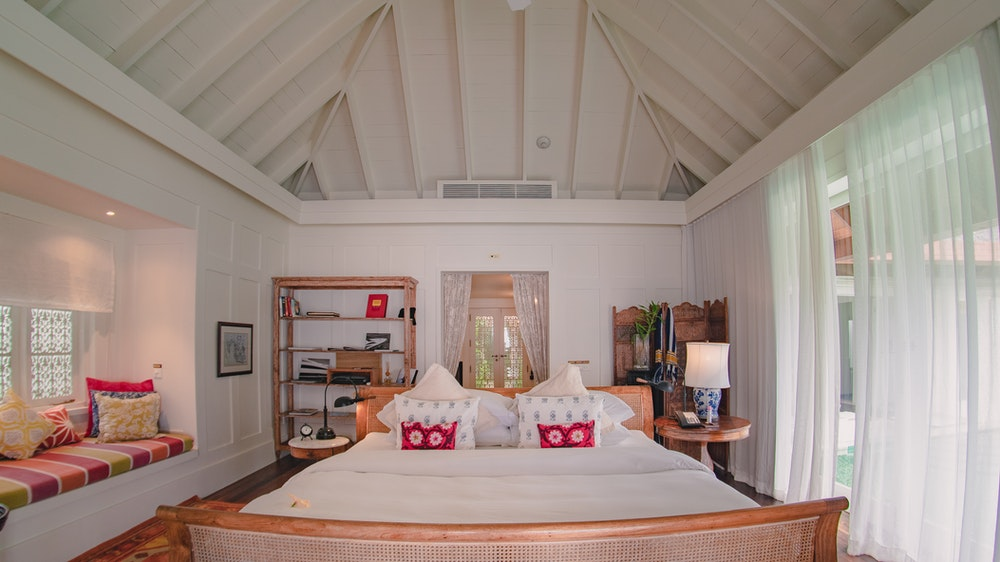 A guest house : hotel room