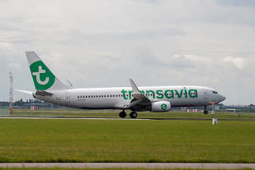 Plane of Transavia - Transavia flight delay compensation