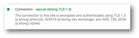 tls 13 connected