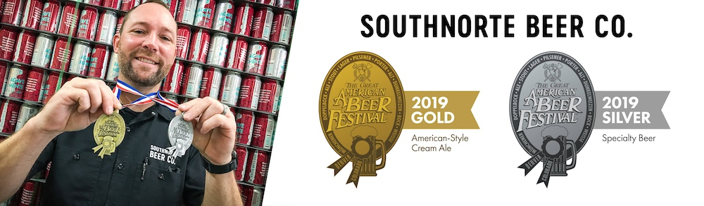 SouthNorte Beer Co. Wins Gold and Silver Medals at the 2019 Great American Beer Festival®