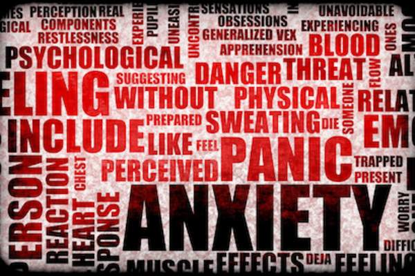 Anxiety word collage.