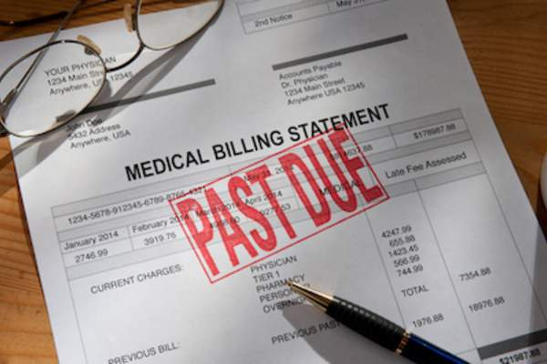 Past due medical bill.