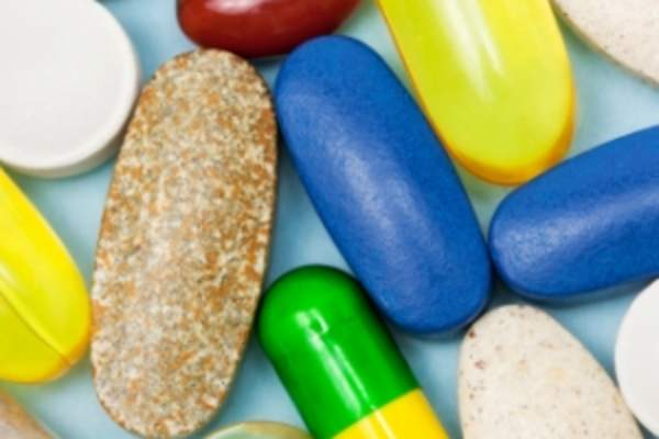 Assorted vitamins and supplements.