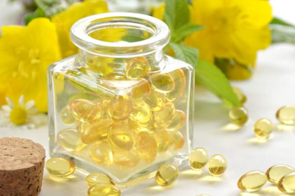 evening primrose supplements and flower