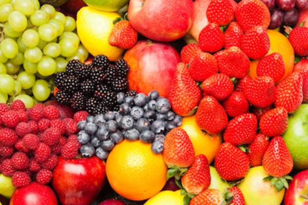 Colorful image of assorted fruits