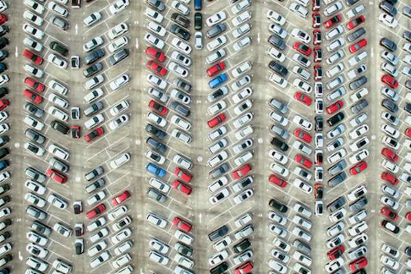 massive parking lot