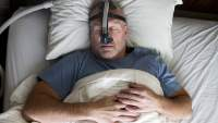 Person with sleep apnea
