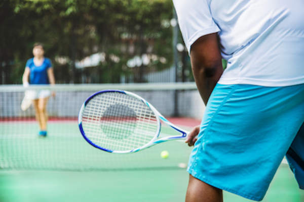 People playing tennis, repetitive sports movements or injury may lead to increased risk of arthritis.