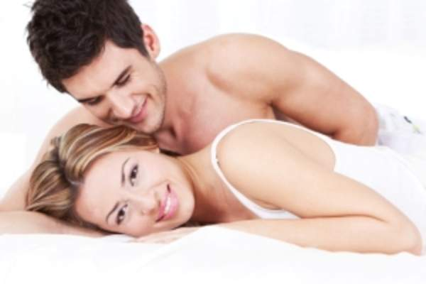 couple in bed image