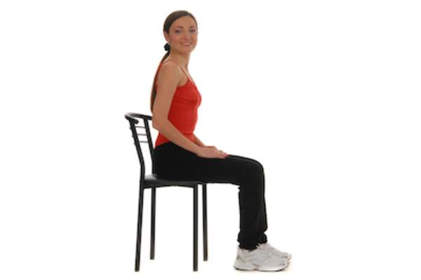 Chair stand exercise