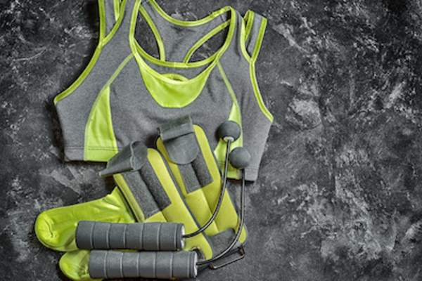 Fitness apparel and equipment.