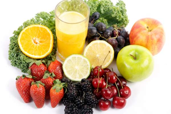 fresh fruit and juice image