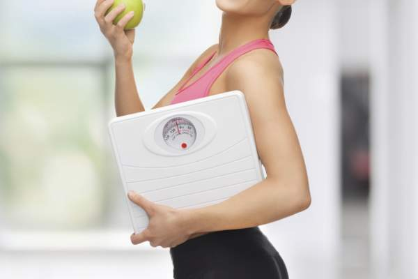 Woman healthy eating lose weight concept.