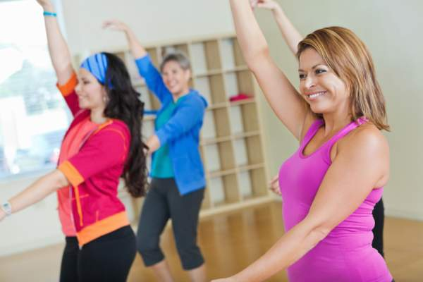 Women in exercise class.