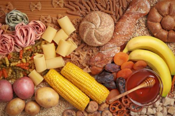 Carbohydrate rich foods.